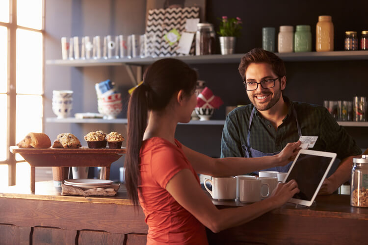 merchant cash advance all credit coffee shop cashier